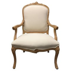 Carved French Country Armchair