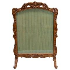 Carved French Fire Screen