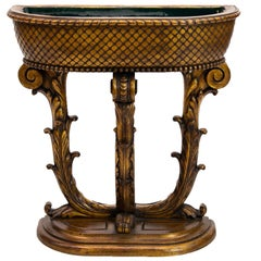 Carved French Gold Planter