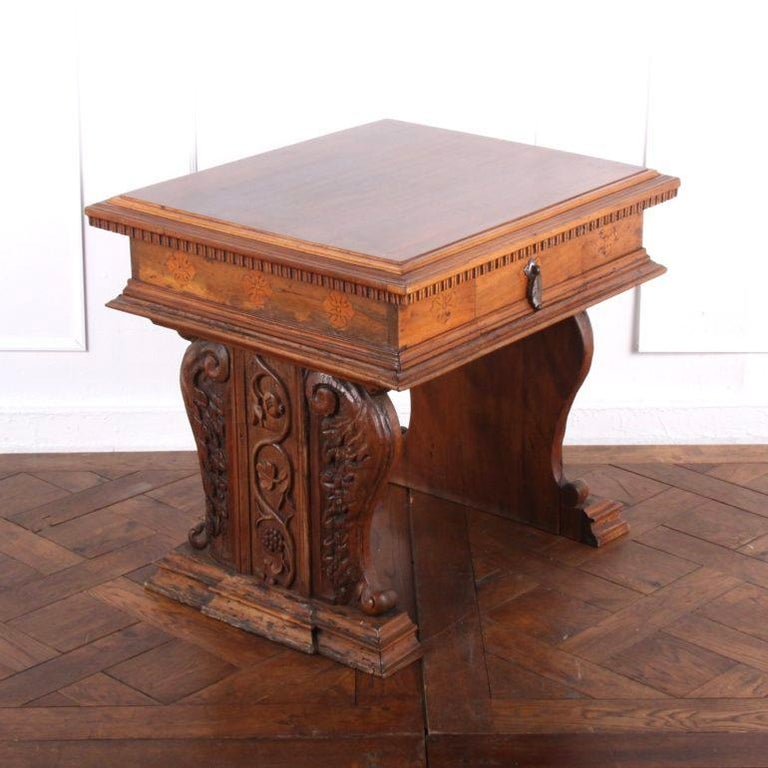 16th Century Carved French Louis XII Side Table From Coco Chanel's Villa La Pausa For Sale