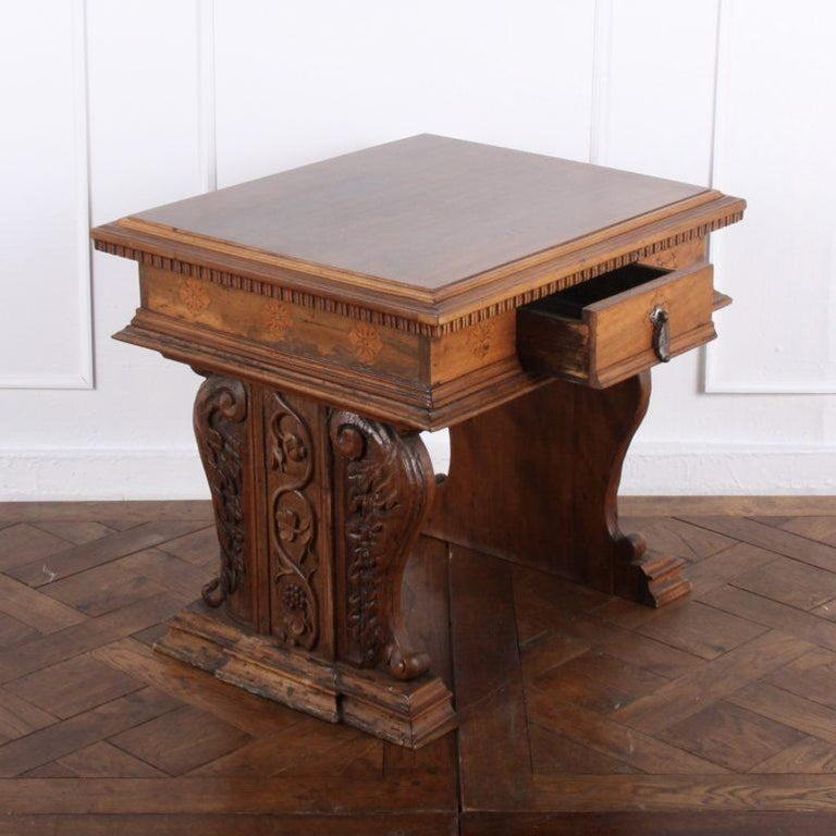 Carved French Louis XII Side Table From Coco Chanel's Villa La Pausa For Sale 1