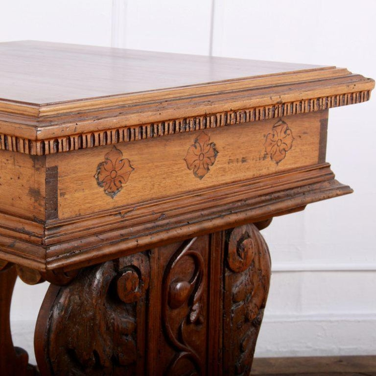 Carved French Louis XII Side Table From Coco Chanel's Villa La Pausa For Sale 2