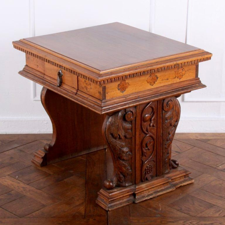 Carved French Louis XII Side Table From Coco Chanel's Villa La Pausa For Sale 3
