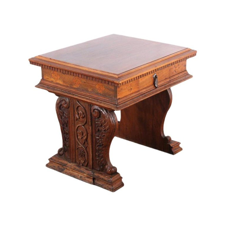 Carved French Louis XII Side Table From Coco Chanel's Villa La Pausa For Sale