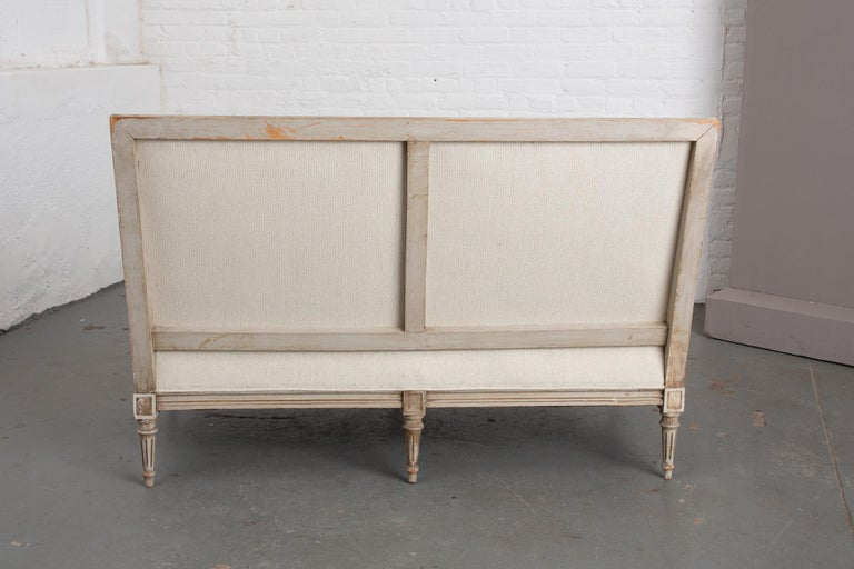 Carved French Louis XVI Style Canape For Sale 5