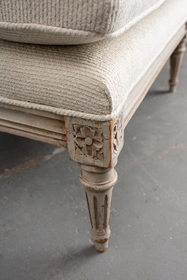 Mid-20th Century Carved French Louis XVI Style Canape For Sale