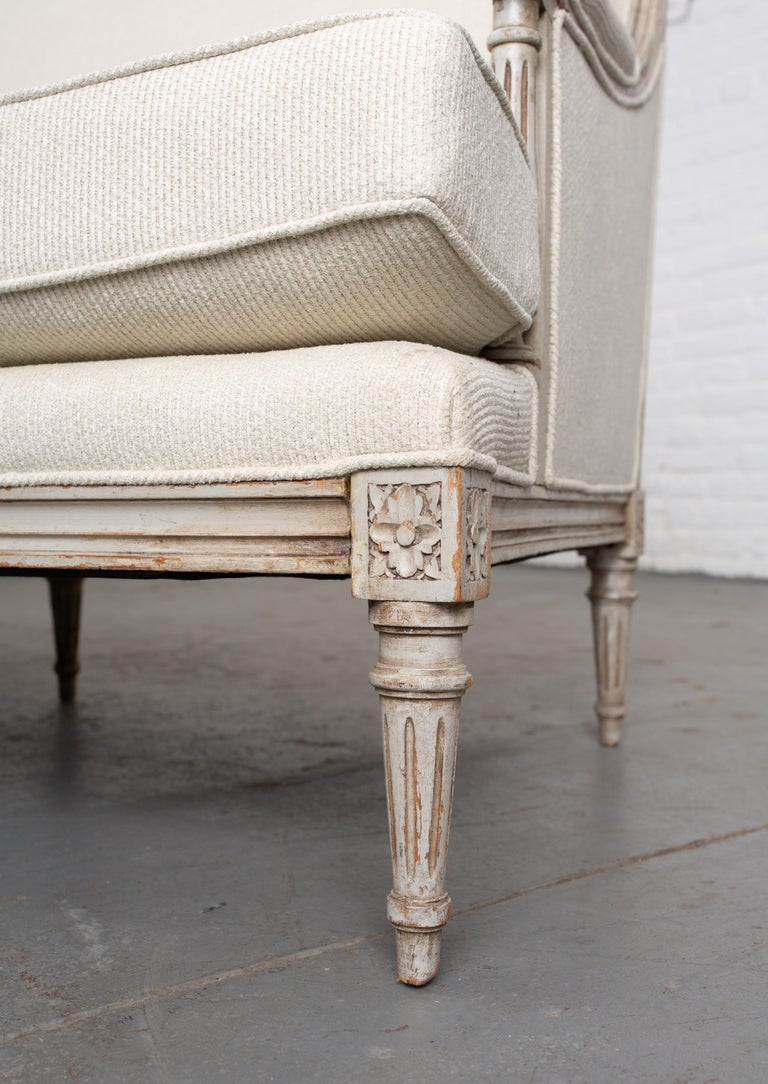 Carved French Louis XVI Style Canape For Sale 1