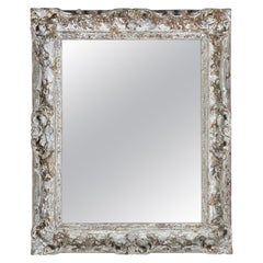 Carved French Painted Louis XV Style Mirror, C. 1900's