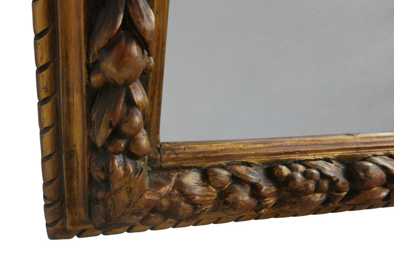 Carved Fruit and Gilt Framed Mirror, Italian, 19th Century In Good Condition For Sale In San Francisco, CA