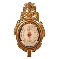 Carved Giltwood Louis XVI French Barometer
