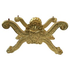 Carved Gilt Wood Rococo Lion Paw Bench