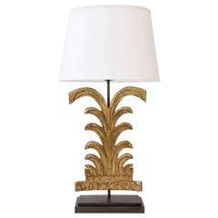 Carved Giltwood Fragment Lamp
