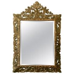 Carved Giltwood Framed Bevelled Mirror