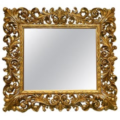Carved Giltwood Framed Mirror in the Style of William 1V