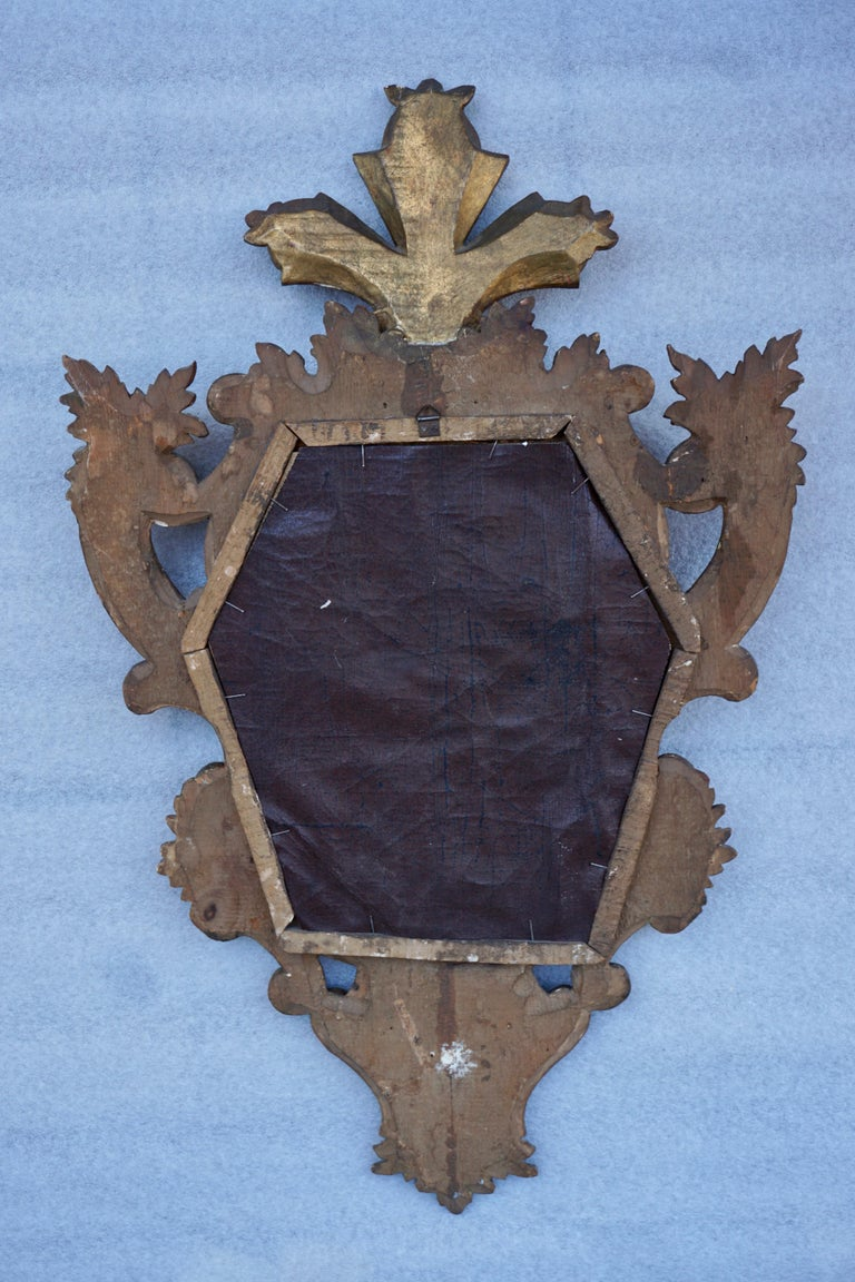 Carved Giltwood Mirror For Sale 1