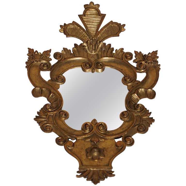 Carved Giltwood Mirror For Sale