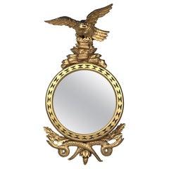 Carved Giltwood Regency Eagle Serpent Mirror