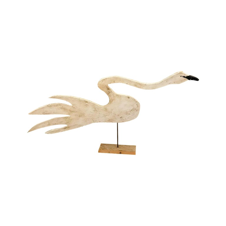 Carved Hissing Swan For Sale