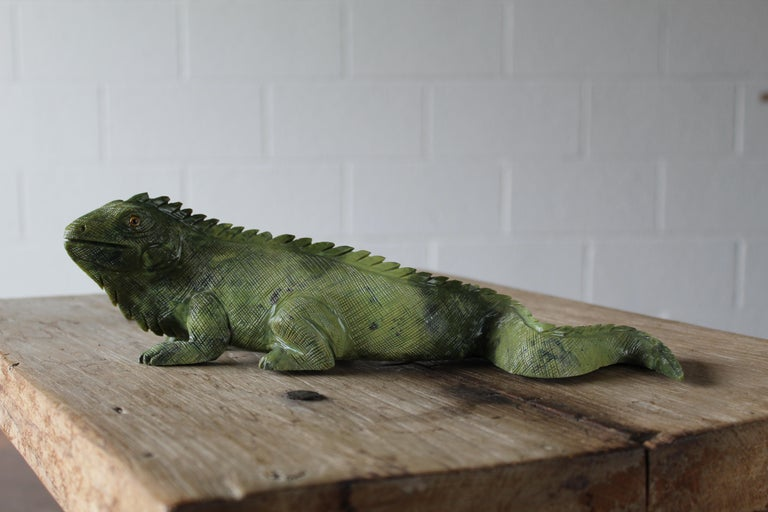 American Carved Iguana For Sale