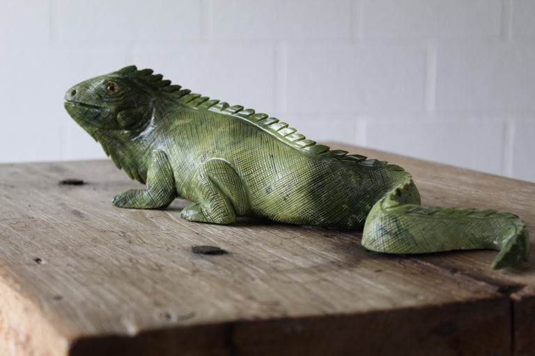 20th Century Carved Iguana For Sale