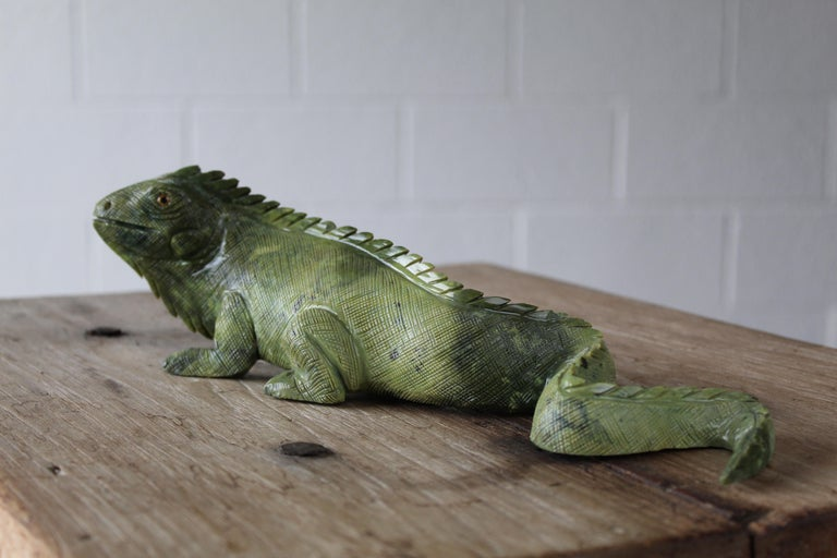 Soapstone Carved Iguana For Sale