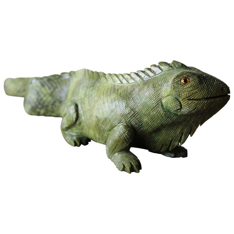 Carved Iguana For Sale