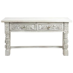 Carved Italian Baroque Style Server Table