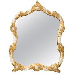 Carved Italian Giltwood Mirror, circa 1950s