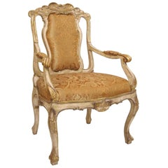 Carved Italian Sienna Dining Armchair by Randy Esada Designs Inc