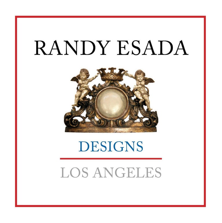 North American Carved Italian Walnut and Wrought Iron Sorrento Side Table by Randy Esada For Sale