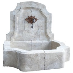 Carved Limestone Wall Fountain from the South of France