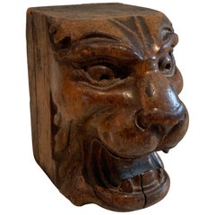 Carved Lion Wooden Architectural Element Paper Weight