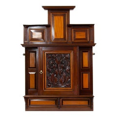 Carved Mahogany Hanging Cabinet