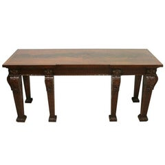 Carved Mahogany Serving Table in Manner of William Kent