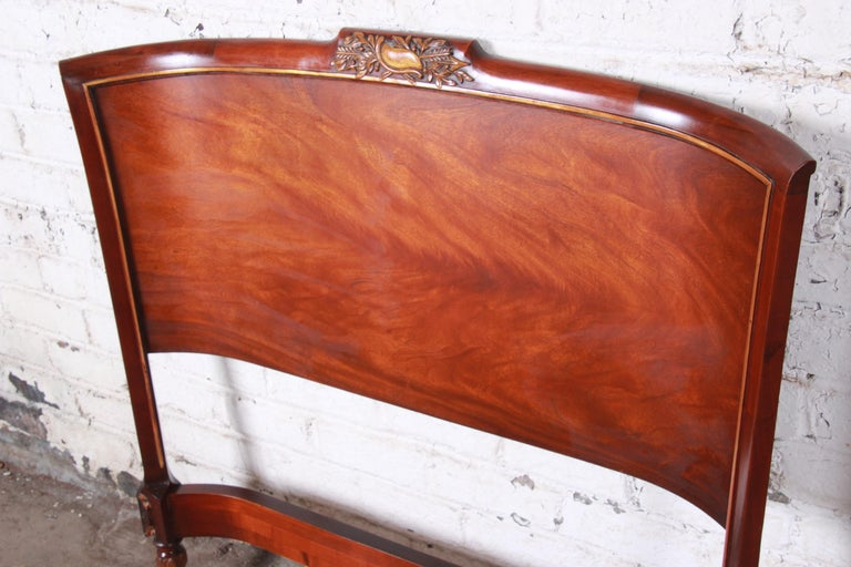 Carved Mahogany Twin Headboards by Irwin, circa 1940s In Good Condition For Sale In South Bend, IN