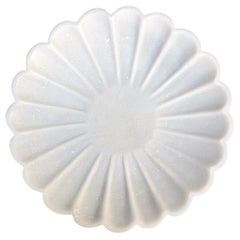 Carved Marble Flower Dish