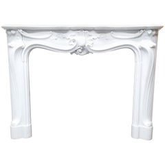 Beutiful carved French marble mantel 20th century