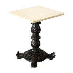 Carved Marble-Top Table