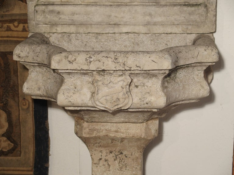 Carved Marble Wall Fountain from Veneto Italy For Sale 7
