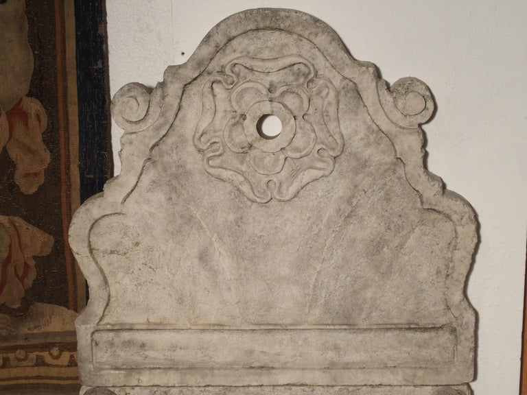 Carved Marble Wall Fountain from Veneto Italy For Sale 9
