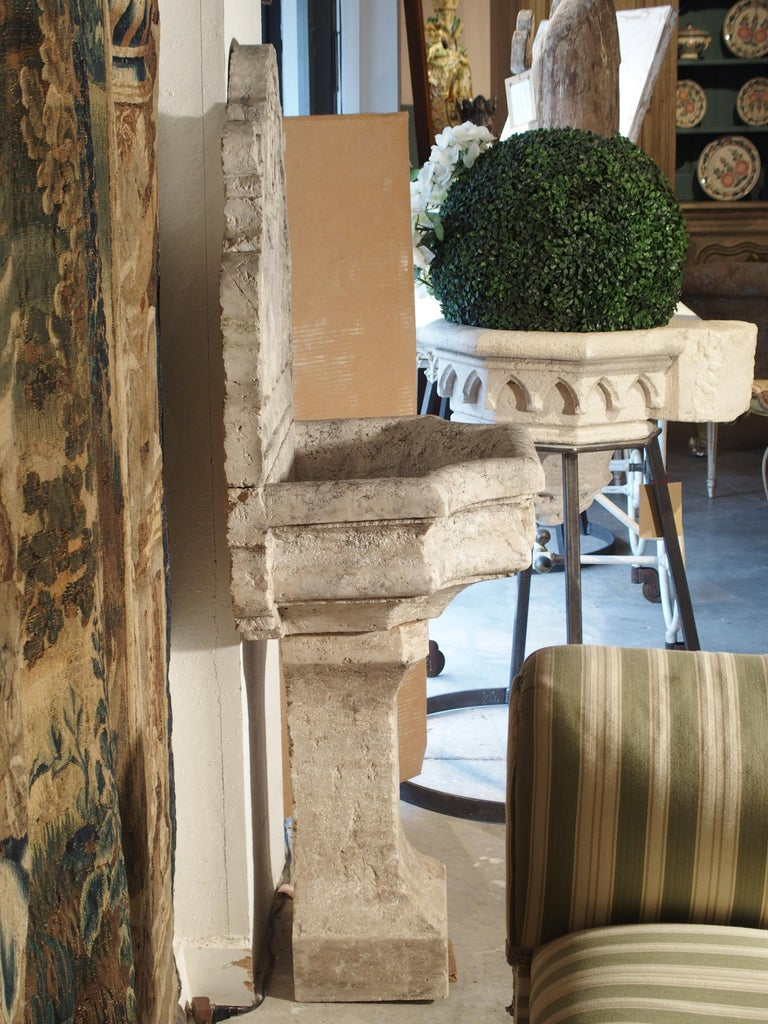 Contemporary Carved Marble Wall Fountain from Veneto Italy For Sale