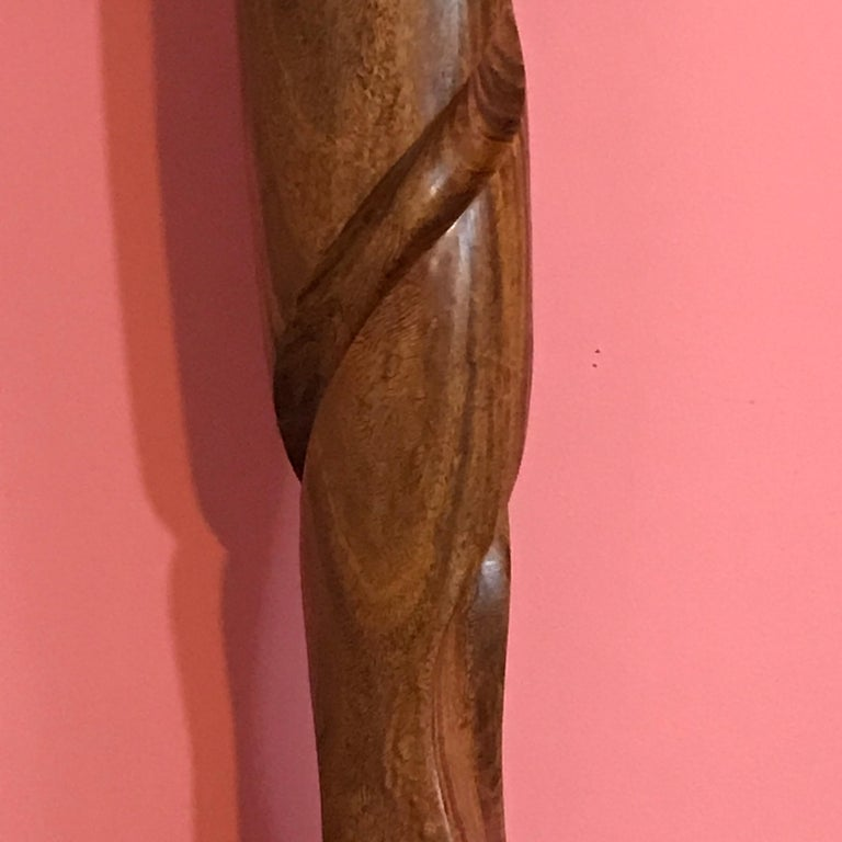 Carved Modern Wood Sculpture, Attributed to Henry Moretti In Good Condition For Sale In Oaks, PA
