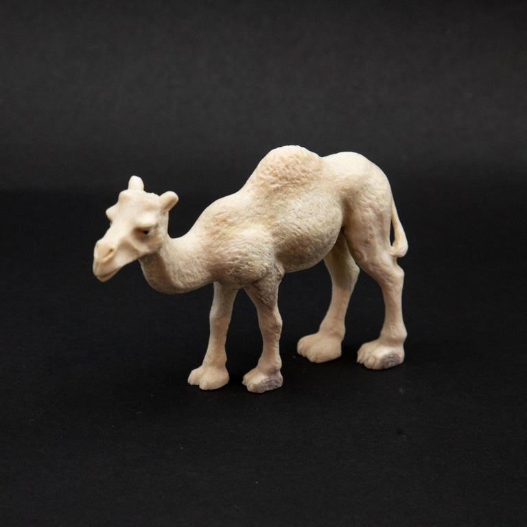 Carved Moose Antler Camel In New Condition For Sale In New York, NY