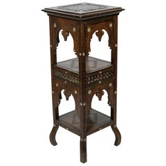 Carved Moroccan Plant Stand