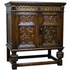 Carved Oak Cabinet, circa 1918-1938