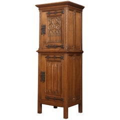 Carved Oak Cupboard of Small Proportions