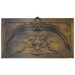 Carved Oak Decorative Over-Door Panel