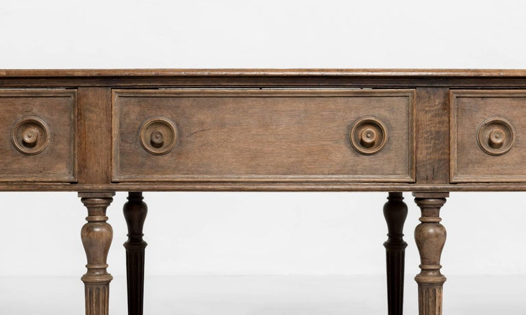 Late 19th Century Carved Oak Drapers Table, France, circa 1890 For Sale