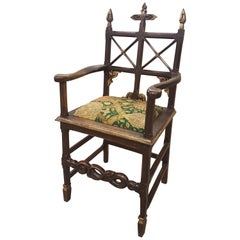 Carved Oak Gothic Ecclesiastical Oak Chair