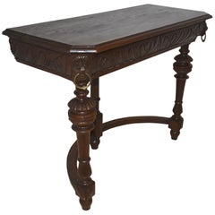 Carved Oak Hall Table, circa 1900